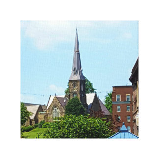 Early 1900's Architecture Church Steeple Canvas Print