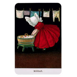 Early 1900s Monday Sunbonnet Sue Magnet