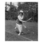 Early 1900s Tennis Fashion Poster