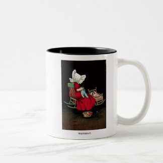 Early 1900's Wednesday Sunbonnet Sue Coffee Mug
