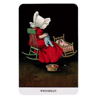 Early 1900's Wednesday Sunbonnet Sue Magnet