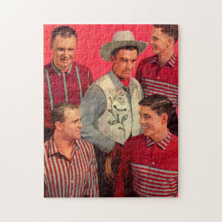 early 1950s cowboy Paw and his boys Jigsaw Puzzle