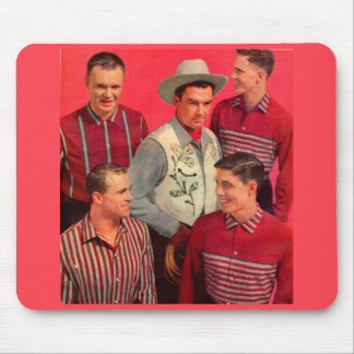 early 1950s cowboy Paw and his boys Mouse Pad