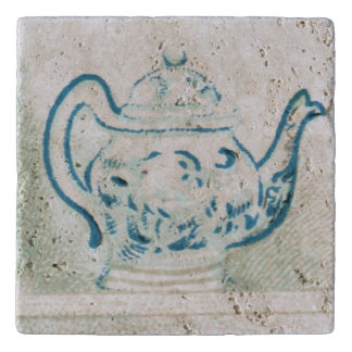 Early 20th Century Blue and White Teapot Trivet