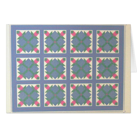 Early American Bear's Paw Quilt Notecard