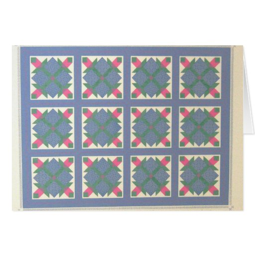 Early American Bear's Paw Quilt Notecard Card