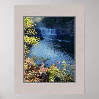 Early Autumn at Cumberland Falls, Kentucky Poster