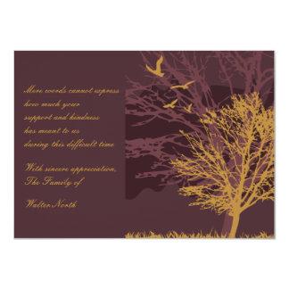 "Early Autumn Bereavement Thank You Notecard 4.5"" X 6.25"" Invitation Card"