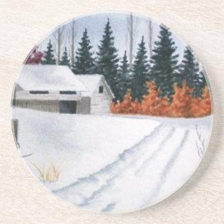 Early Autumn Landscape Beverage Coasters