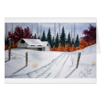 Early Autumn Landscape Greeting Card