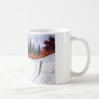 Early Autumn Landscape Basic White Mug
