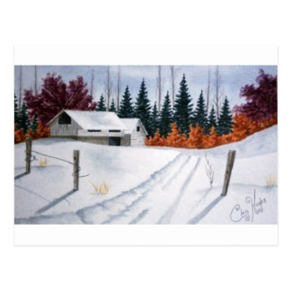 Early Autumn Landscape Postcard