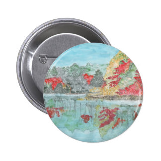 Early Autumn Stream Pinback Buttons
