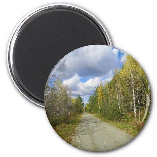 Early Autumn Trail Fridge Magnet