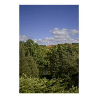 Early Autumn Valley framed print