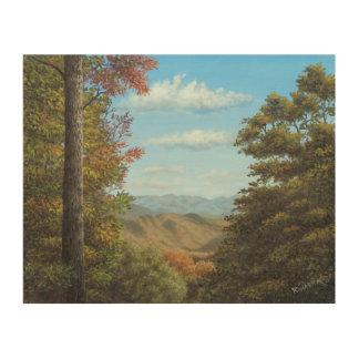 Early Autumn View - Smoky Mountains Wood Prints