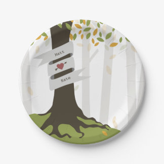 Early Autumn Woodland Wedding 7 Inch Paper Plate