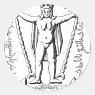 Early Baphomet Round Sticker