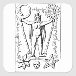 Early Baphomet Square Sticker