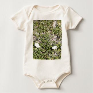 Early Beach Sand Morning Glories Baby Bodysuit