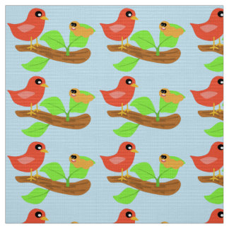 Early Bird And Worm Fabric