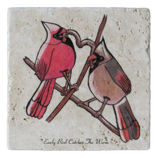 """Early bird catches the worm"" Trivet"