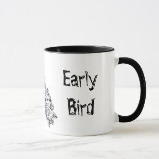 """Early Bird"" Prehistoric Bird Art Mug"