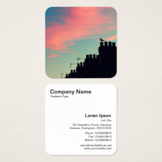 Early Bird Square Business Card