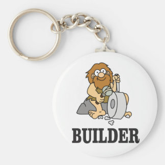 early builder guy basic round button keychain