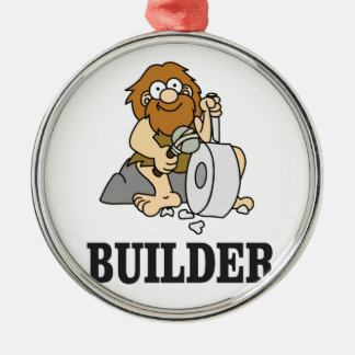 early builder guy Silver-Colored round ornament