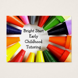 Early childhood tutoring business card