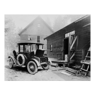 Early Electric Auto: 1919 Poster