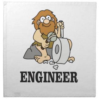 early engineer man napkin