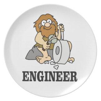 early engineer man plate