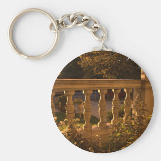 Early Evening Basic Round Button Keychain