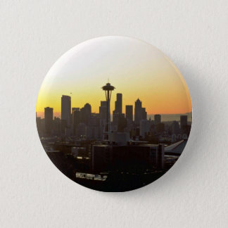 Early Evening In City 2 Inch Round Button