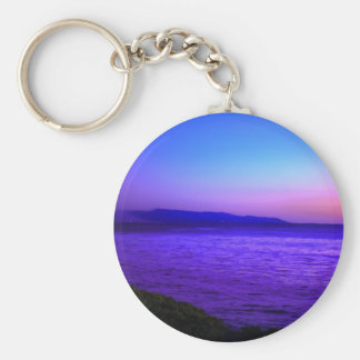 Early Evening Mist Basic Round Button Keychain