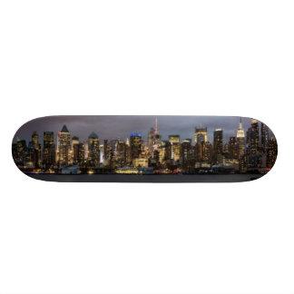 Early evening panoramic view of Manhattan Skate Decks