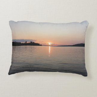 Early Evening Sunset On Lake Vermilion h-throw Accent Pillow