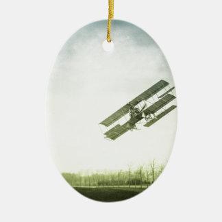 Early Flight Test Ceramic Oval Ornament