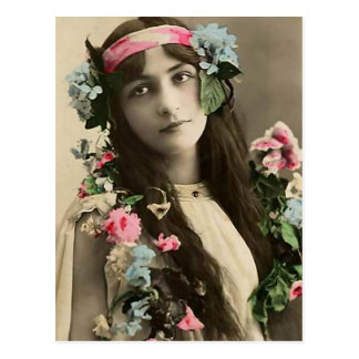 Early Flower Child Postcard