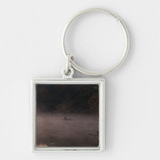 Early Foggy Fishing Keychain