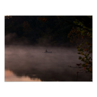 Early Foggy Fishing Poster