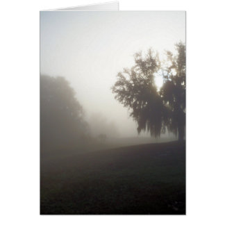 early foggy morning just before sunrise card