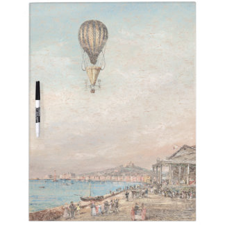 Early Hot Air Balloon Lake Europe Dry Erase Board