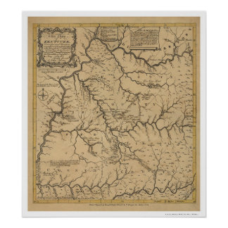 Early Kentucky Map - 1784 Poster