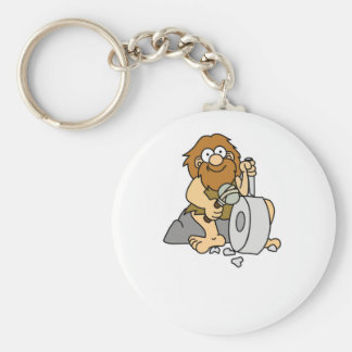 early man works basic round button keychain