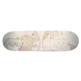 Early Map 1790 of Northern Southern Hemispheres Custom Skateboard
