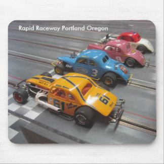 Early modified slot cars. mouse pad