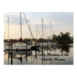 Early Morning at the Edenton Marina Postcard